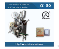Cost Effective Dirp Coffee Bag Packing Machine With Outer Envelop