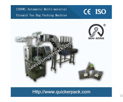 Multi Materials Pyramid Tea Bag Pouch Packing Machine