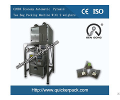 Triangle Nylon Bag Packing Machine With Thread And Tag