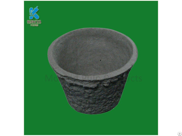 Custom Eco Friendly Molded Paper Pulp Flower Pot Seed Tray