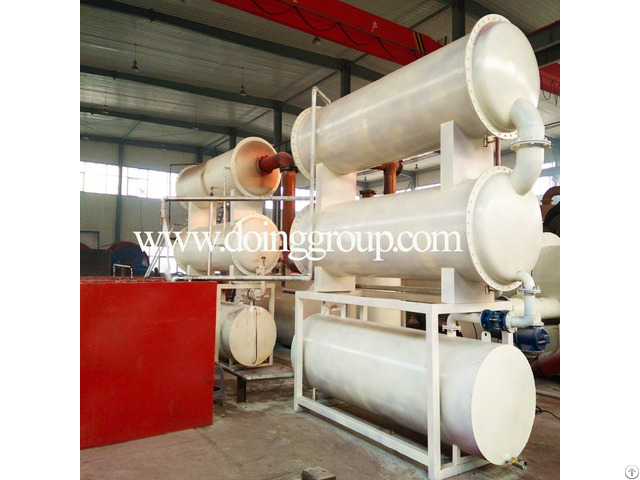 Fully Continuous Waste Tyre Plastic Rubber Into Fuel Oil Pyrolysis Plant
