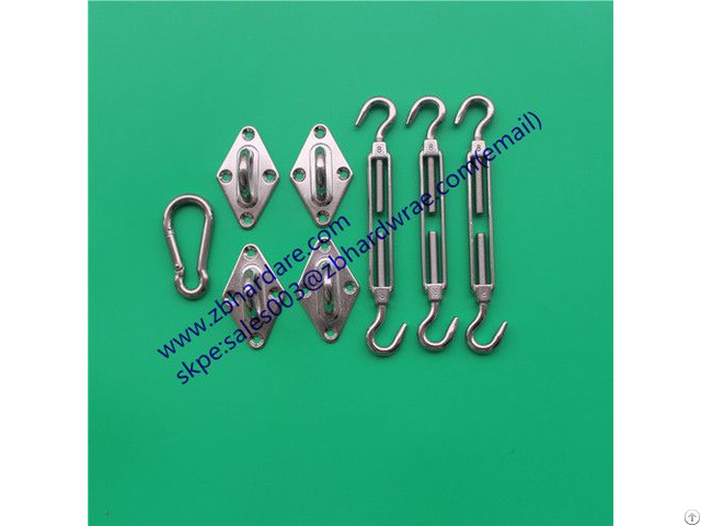 Square Shade Sail Accessories Stainless Steel Hardware Kit