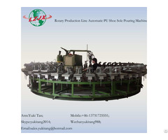 Pu Shoe Sole Footwear Manufacturing Machine With Production Line