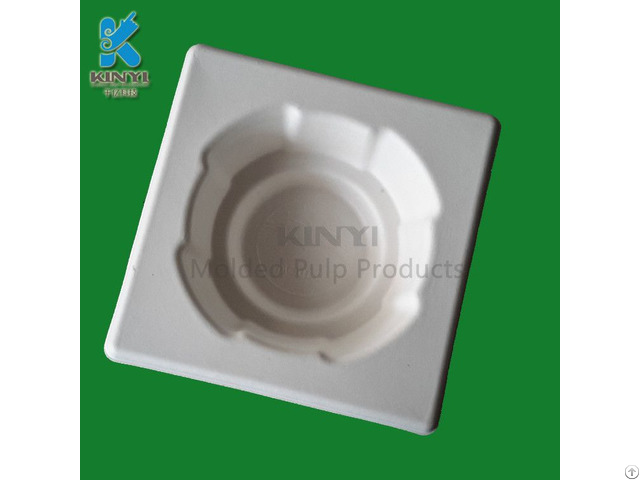 Shockproof Protective Bagasse Molded Pulp Packaging Tray For Wine Bottles
