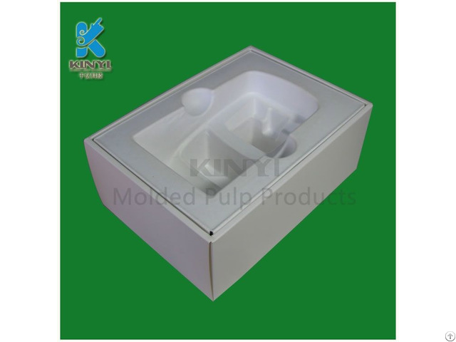 Custom Eco Friendly Paper Pulp Coffee Machine Packaging Box