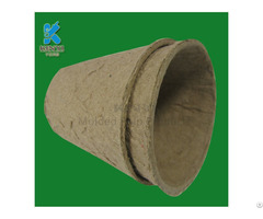 High Quality Biodegradable Yellow Waste Paper Pulp Nursery Pots