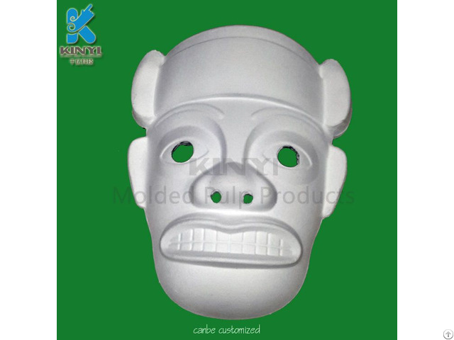 Wholesale Sugar Cane Paper Pulp Mache White Masks