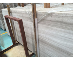 Chinese White Wooden Marble Tile And Slab