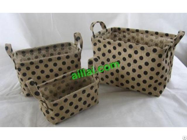Sell Cotton Fabric Laundry Basket Lien Storage Bag