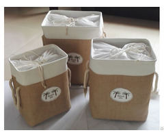 Sell Cotton Fabric Laundry Bag 5