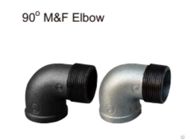 Excellent Factory Supply M F Galvanizetion 90 Elbow