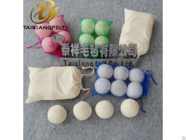 70mm 73mm 75mm Customized Wool Dryer Balls