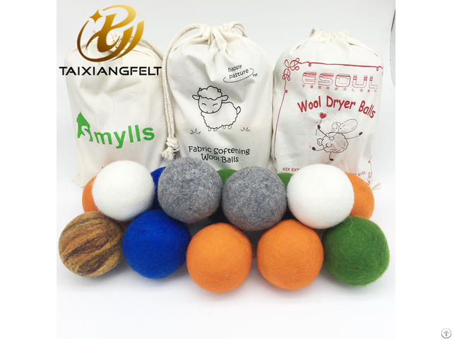 Organic Wool Dryer Balls Perfectly Sized For Your Laundry Faster Dry