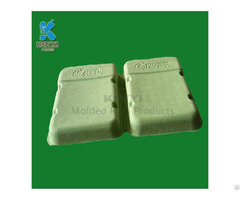 Eco Friendly Paper Pulp Molded Packaging Tray Electronic Use