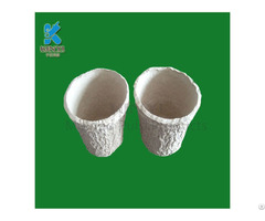 Recycled Paper Pulp Molded Flower Pots Planters Eco Friendly