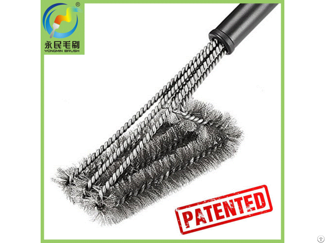 Patented Barbeque Grill Cleaning Brush