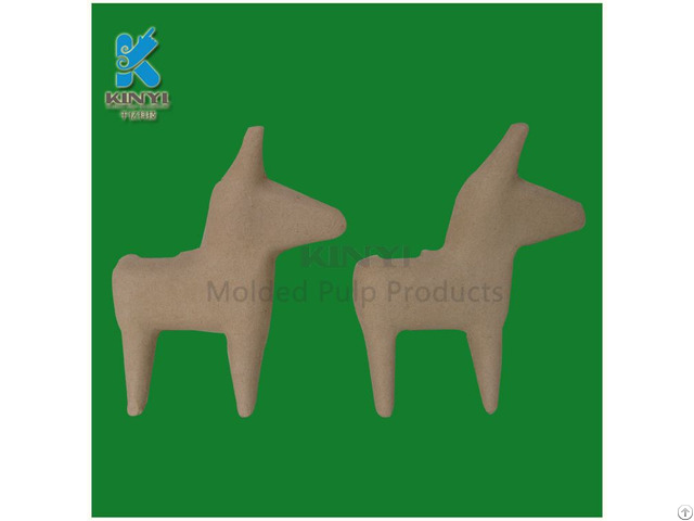 Eco Friendly Paper Pulp Molded Animal Trays Gifts For Children