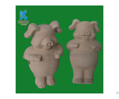 Paper Pulp Molded Animals Tray Diy Drawing Gifts
