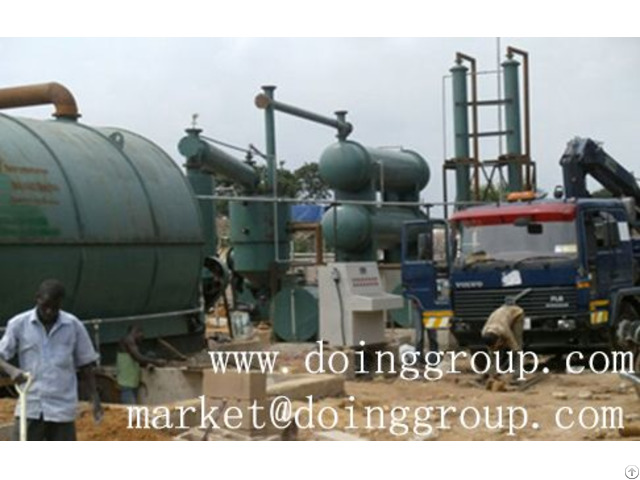 Nigeria Used Tire Recycling To Oil Pyrolysis Plant