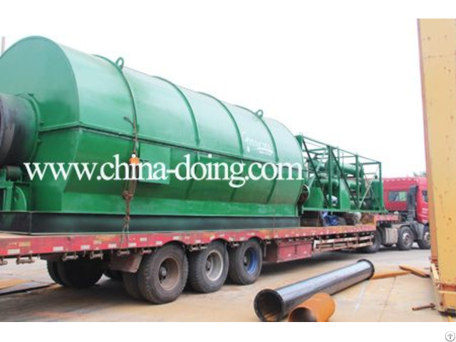 10ton Used Tyre Recycling Plant To Fuel Oil Pyrolysis Machine For India Customer