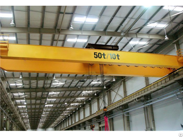 Factory Electric Travelling Double Girder Bridge Overhead Crane