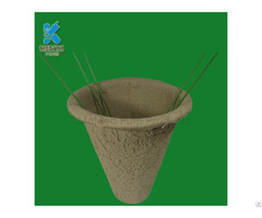 Customized New Style Paper Flower Pots And Pulp Mini Plant Pot
