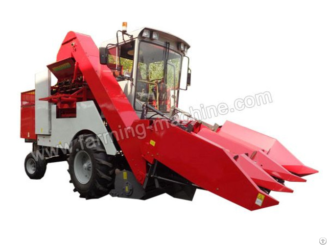 Three Row Self Propelled Corn Harvester