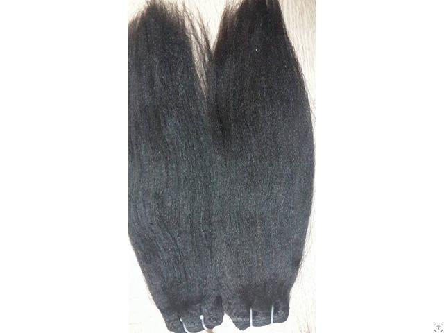 Double Drawn Yaki Straight Hair Color 1b 18