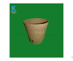 Recycled Dry Press Molded Pulp Flower Pot