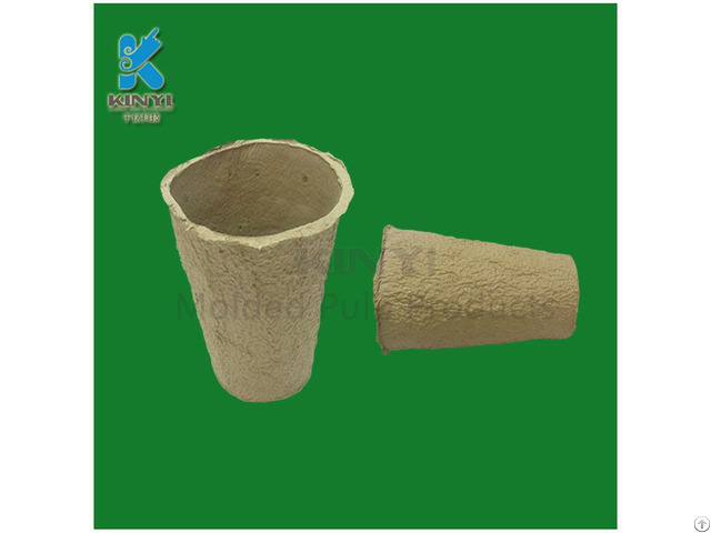 New Design Recycling Yellow Fiber Pulp Flower Pot