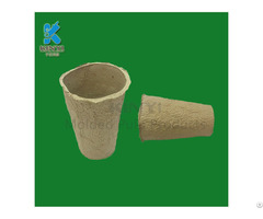 New Design Recycling Yellow Fiber Pulp Flower Pot