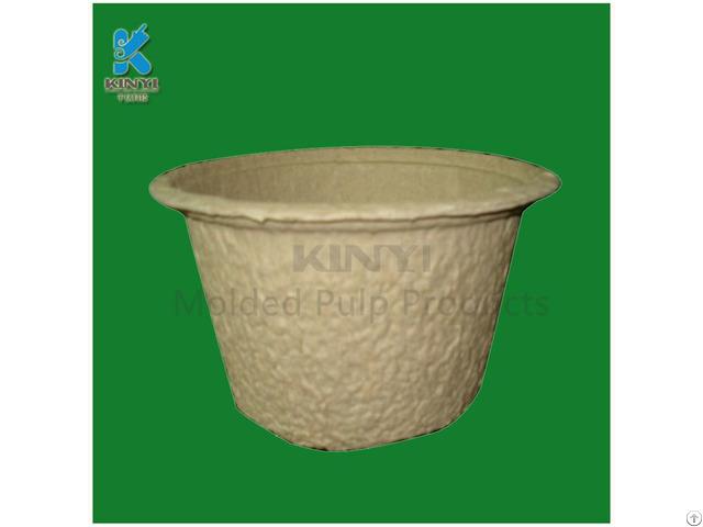 Waterproof Recycled Plant Pulp Flower Seeding Pots
