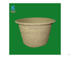 Waterproof Recycled Plant Pulp Flower Seeding Pots