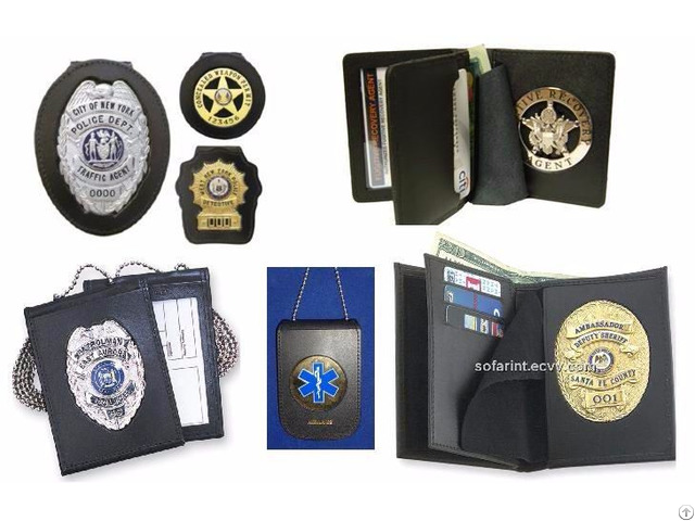 Id Card Holder Police Wallet Badge Cases