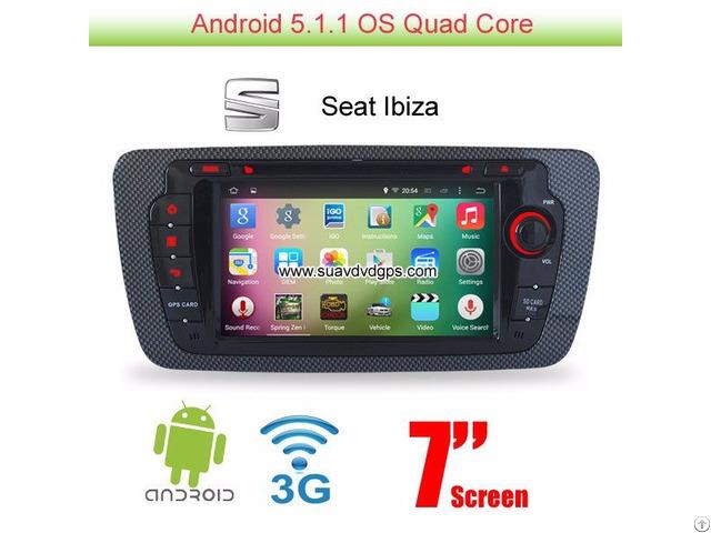 Seat Ibiza Android 5 1 Car Radio Wifi 3g Dvd Gps Apple Carplay Dab