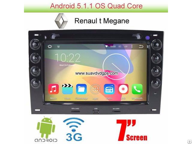 Renault Megane Android 5 1 Car Radio Wifi 3g Dvd Player Gps Multimedia
