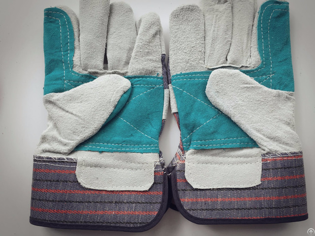 Good Price Split Leather Gloves