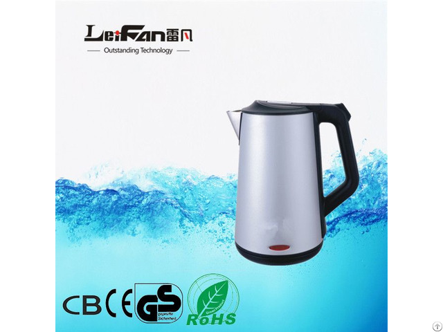 Cordless Double Wall Water Kettle With Competitive Price