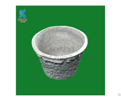 Eco Friendly Molded Pulp Plant Pot Design