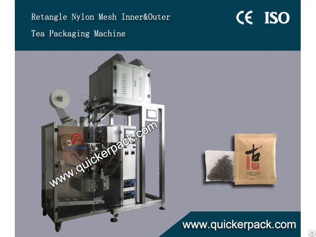 Flat Nylon Tea Bag Packing Machine With Outer Envelop