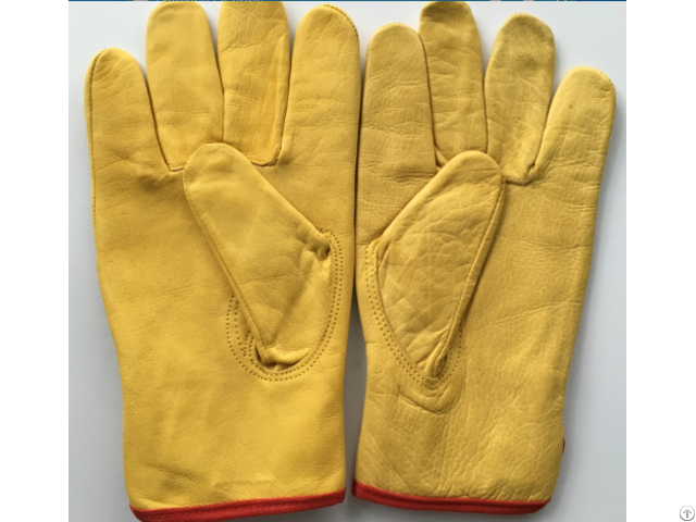 Cow Grain Leather Safety Gloves