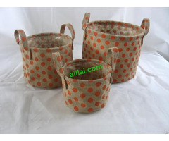 Sell Jute Flower Pot Cotton Fabric Basket