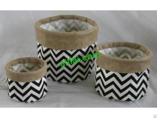 Sell Jute Basket Cotton Fabric Pot