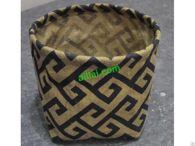 Sell Jute Flower Pot Fabric Garden Basket