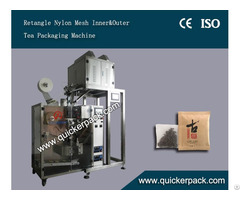 Rectangle Ultrasonic Corn Fiber Pla Bag Packing Machine With Outer Envelop