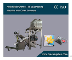 Nylon Triangle Tea Bag Packing Machine With Outer Envelope