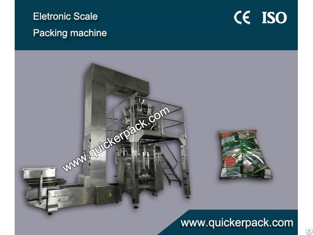 Snacks Packaging Machine With 10 Electric Scales Filling