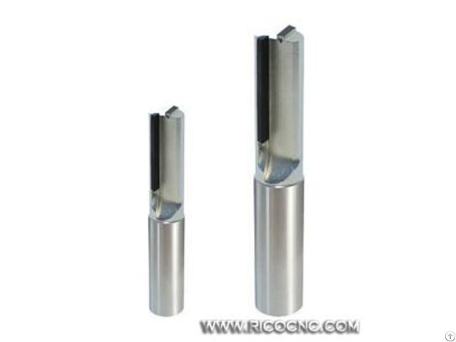 Double Flute Cnc Diamond Tipped Pcd Straight Plunge Router Bits