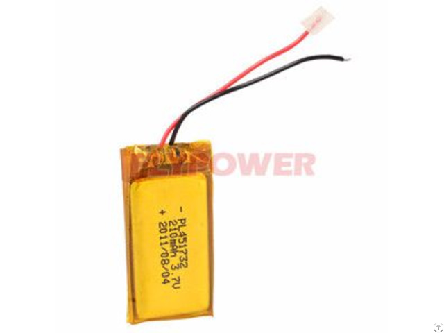 Rechageable Battery Pack3 7v 210mah