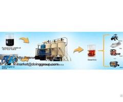 Plastic Oil Refining To Diesel Plant